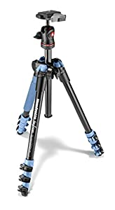 Manfrotto MKBFRA4L-BH BeFree Compact Aluminum Travel Tripod, Blue