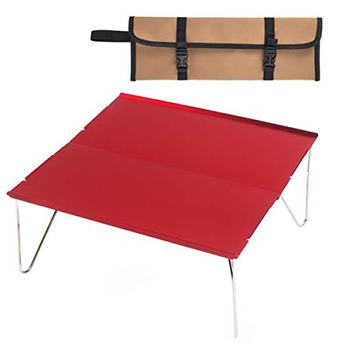 SunshineFace Draagbare campingtafel,Afneembare aluminium tafel met draagtas voor outdoor kamperen wandelen