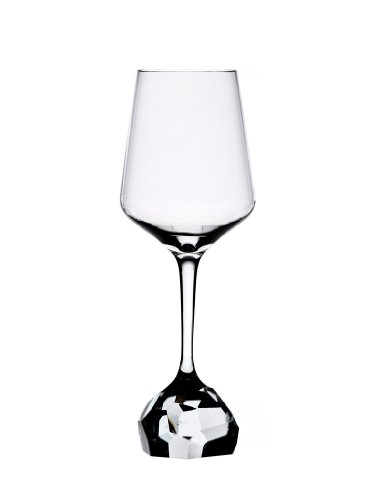 Stone Collection 13.5oz Crystal White Wine Glasses, Set of 2 by Bomma