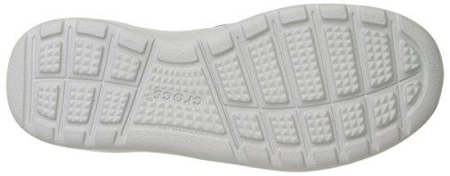 Crocs Kinsale 2-Eye, Scarpe Brogue Uomo Nero/Perla/Bianco (Black/Pearl/White)
