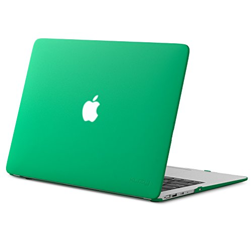 Kuzy MacBook Air 13 inch Case A1466 A1369 Soft Touch Cover for Older Version 2017, 2016, 2015 Hard Shell - Forest Green