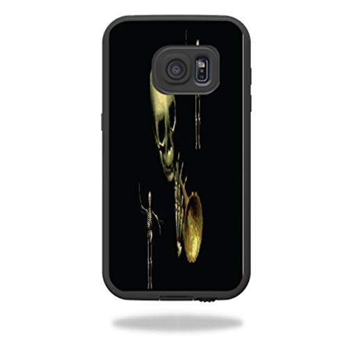 Spooky Skeleton Trumpet Player Samsung Galaxy S7 Case fre Vinyl Decal Sticker Skin]()