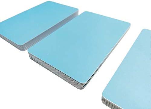 Premium Plastikkarten | PVC Karten Hellblau | 5-500 Stück | blanko, Kartendrucker, NEU! (10)