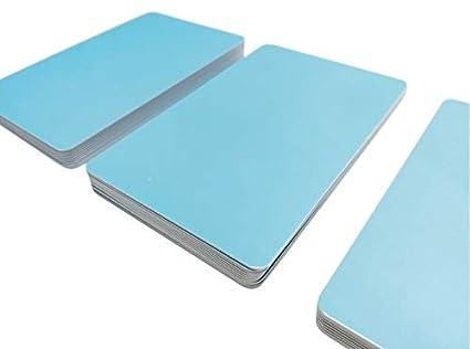Premium Tarjetas de plástico, tarjetas de PVC azul claro, 5 ...