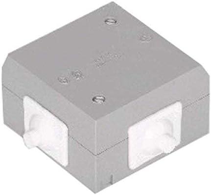 Caja de Conexiones Electrica Empalmes Superficie 2X Entradas Gris: Amazon.es: Electrónica