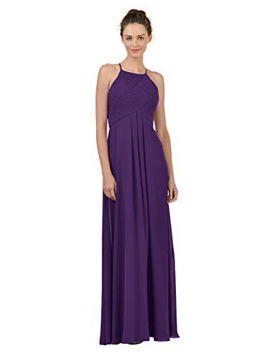 Alicepub Long Chiffon Plus Size Bridesmaid Dress Maxi Evening Gown A Line Plus Party Dress, Regency, US20 from Alicepub