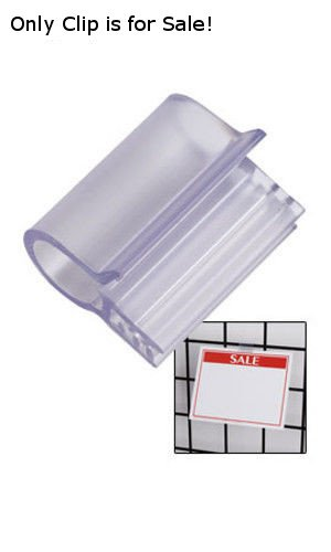 20 Pc New Retails Plastick Sign Clip for Wire Grid and cardboard 1''W