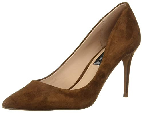 - STEVEN by Steve Madden Women's Local Pump, Chestnut Suede, 9 M US