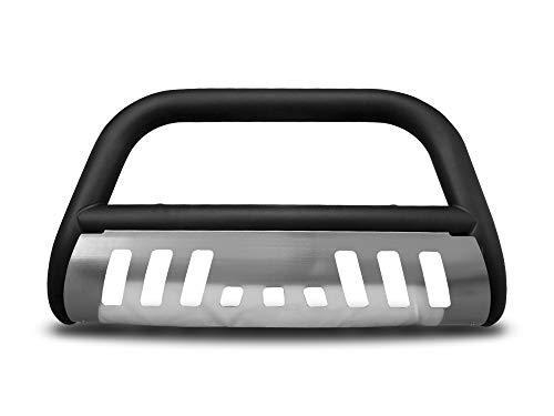 Armordillo USA 7142961 Classic Bull Bar Fits 2004-2019 Ford F-150 - Matte Black W/Aluminum Skid Plate