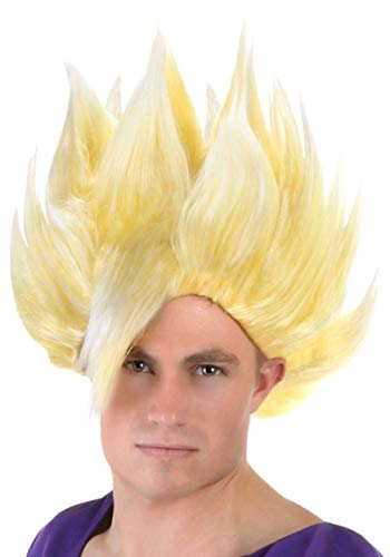 Fun Costumes Adult Gohan Wig Standard Yellow]()