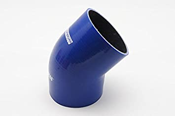 Blue 76mm ID 3 Leg Length 3.13 Wall Thickness 0.16 4mm 45-Deg Elbow Coupler Autobahn88 Universal Automotive Silicone Hose 3-Ply 80mm