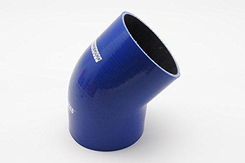 80mm acoplador de Codo de 45 Grados Grueso de Pared 0,16 Azul 70mm 4mm autobahn88 Manguera de Silicona automotriz Universal 3-Ply ID 2,75 Longitud de la Pierna 3,13