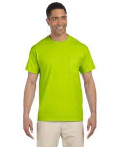 Gildan Ultra Cotton 6 oz. Long-Sleeve Pocket T-Shirt (G241)- SAFETY GREEN,L