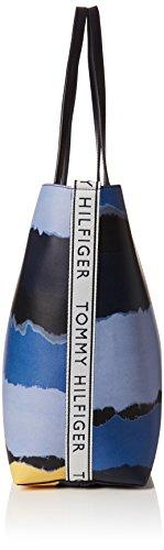 Blue 14x31 B Tie Shoulder x 5 Iconic Dye 5x42 Womens H Bag Tommy Print cm T Hilfiger Tote xnvS86wq0B