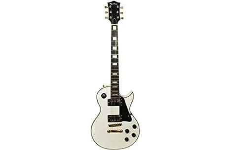 Rockburn Custom Guitarra eléctrica de LP - Blanco.: Amazon.es: Juguetes y juegos