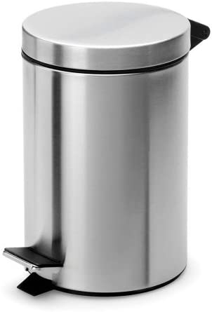 Amazon Com Rocky Mountain Goods Small Trash Can With Step Lid 1 85 Gallon Trash Can For Bathroom Bedroom Office Heavy Duty Metal Foot Pedal Opening Removable Inside Pail
