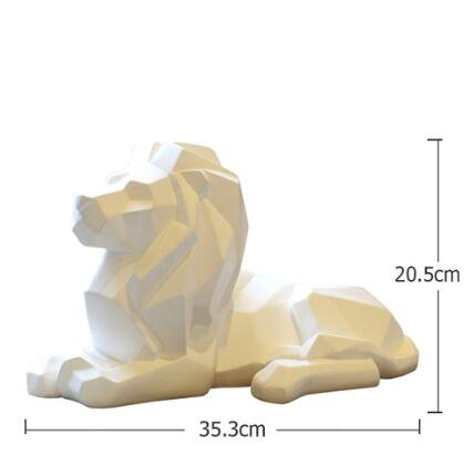 BWLZSP Nordic style lucky lion geometric animal ornaments crafts living room console cabinet creative home soft decorations AP5091138 (Color : White) by BWLZSP