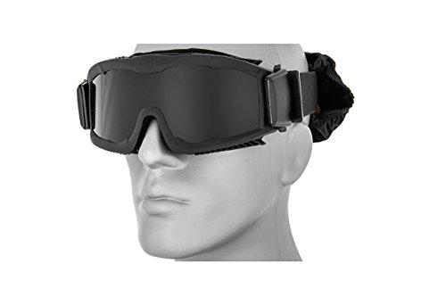 Lancer Tactical Airsoft CA-221BB Goggles Vented Smoke Lens -