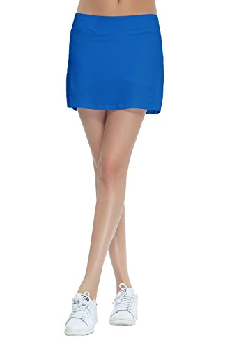 Women Discount (HonourSport Women's Club Tennis Underneath Skorts Blue M)