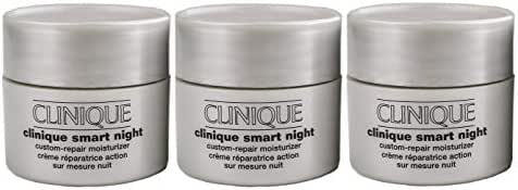 Clinique Smart Night Custom-Repair Moisturizer Dry Combination, 0.5 oz each (Pack of 3)