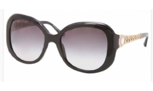 Bvlgari 8129HB 501/8G Black and Gold 8129HB Round Sunglasses Lens Category - Bvlgari Sunglasses