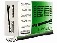 CRL Diamantor Wood Handle Glass Cutters - 12 Pack