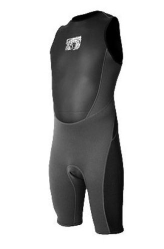 Body Glove Fusion Mens Short John Wetsuit (Black, Small)