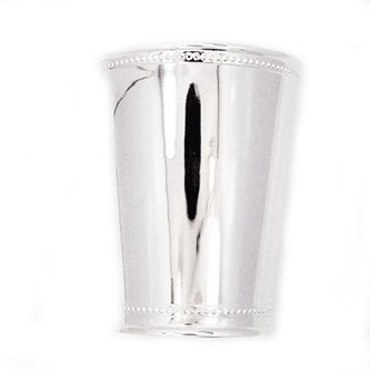 Orlando Sterling Silver Beaded Mint Julep Cups 4'' by Silverstar Fine Sterling Silver Products