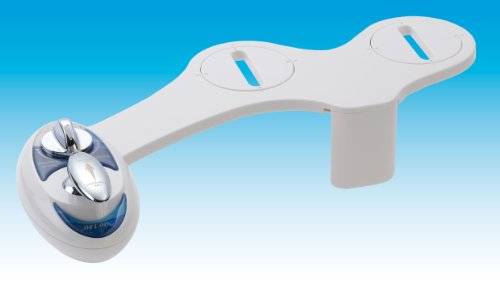 Luxe Bidet Neo 180 - Self Cleaning Dual Nozzle - Fresh Water Non-Electric Mechanical Bidet Toilet Attachment