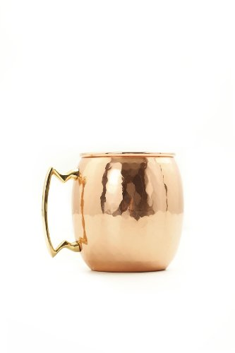Old Dutch Nickel-Lined, Solid Copper Hammered Moscow Mule Mug, 24 Oz. ()