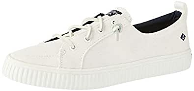 Sperry Crest Vibe Creeper Women's Linen Court Shoes, White, 7 US