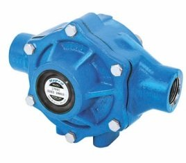 """Hypro 1700C Cast Iron 5-Roller Pump, For Agricultural Spraying/Fluid Transfers, 45GPM, 200PSI, 1000RPM, Viton Std Shaft Seals, 15/16"""" Shaft Output, 1"""" NPT Port"""