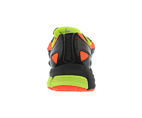 Saucony Ride 6 Gtx Running Zapatillas Para Hombre Obsidian / Black / Orange / Yellow