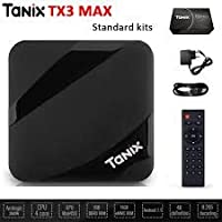 SreeTeK™️ TANIX MAX 2GB/16GB Android 7.1, Android TV Box Supports JIO TV & HotStar Apps, Amlogic S905W Blueooth 4.2 UHD 4K 1080P Smart TV Box Set Top Box TX3 Mini X96 Mini MXQ Pro TX3 MAX