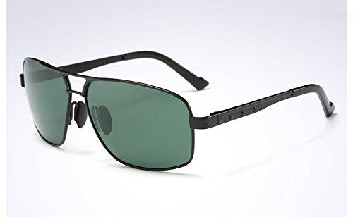 BLACK de sol sol Gafas polarizadas Moda Sunglasses Gafas de Mens de GREEN gafas GRIS VERDE Hombre sol TL vpq1axx