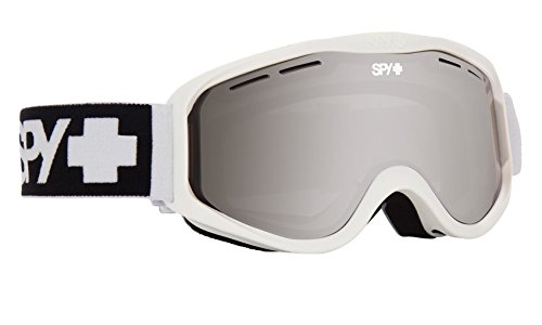 Spy Optic Cadet 313347396207 Snow Goggles, One Size (Matte White Frame/Silver - Goggles Polarized Electric