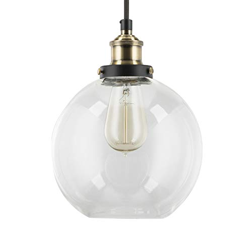 Glass Round Pendant Light in US - 5