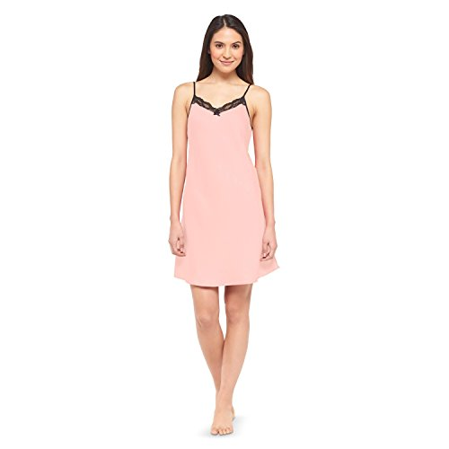 Gilligan & O'Malley Women's Satin Sleep Chemise (Medium, Coral)