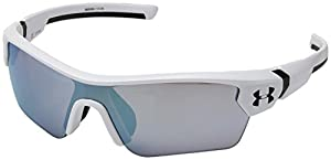 UA Menace Satin White / Black Frame / Baseball Tuned Lens