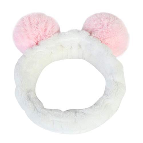 LODDD Women Fluffy Elastic Hairband Stereoscopic Plush Panda Ear Cute Head Hair Band