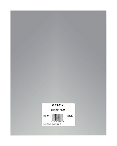 Grafix 50 Sheet Sanded Shrink Film Embellishment, 8-1/2