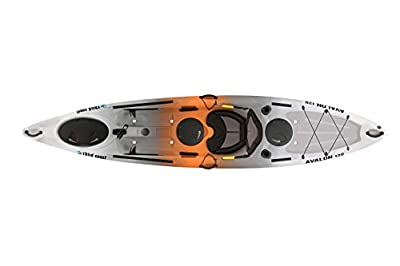 59293 Third Coast Avalon 120 Sit On Angler Kayak (Orange/Gray/White) from KL Industries