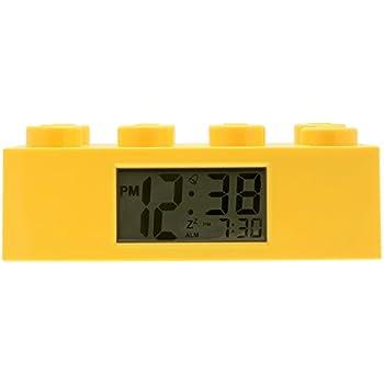 Amazon.com: LEGO 9002168 Red Brick Kids Light Up Alarm Clock   red ...