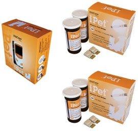 iPet Blood Glucose Meter Kit Combo (Meter Kit and Test Strips 100ct)