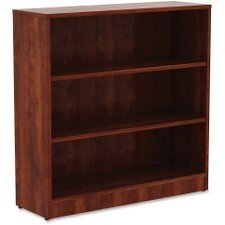 Lorell 3 Shelf Bookcase in Cherry - Lorell Cherry Bookcase