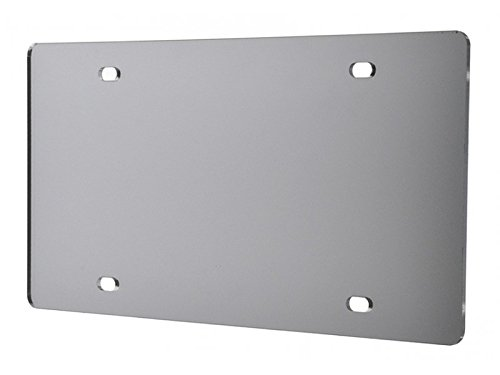 - Marketing Holders Blank License Plate Laser Cut Acrylic Silver Mirror Qty 1