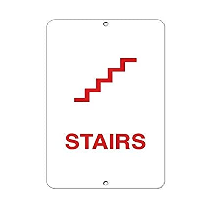 Stairs Business Sign STairway Signs Aluminum METAL Sign