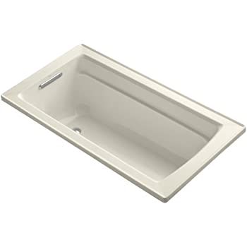 Kohler K 1123 47 Archer 5 Foot Bath Almond Freestanding
