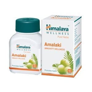 bottle containing himalaya amalaki tablets