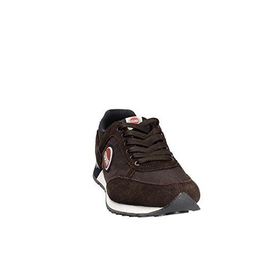 COLMAR TRACOL Kaffee Marine Schuhe Blau Manturnschuhe Braun Schnürsenkel Marrone